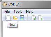 Open Source DEA / OSDEA - GUI Clicking on new