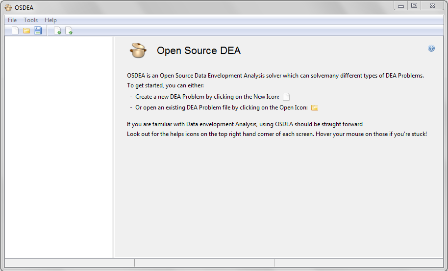Open Source DEA / OSDEA - Opening